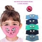Kinderschutzmaske, Kätzchen, 4-10, D5866