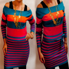 D14106 Elegáns női pulóver ruha, őszi tunika