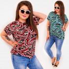 C11529 Adorable Women Blouse Plus Size Polka Dots