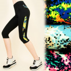FL449 LEGGINGS, FITNESS PANTS, LENGTH 3/4 GALAXY