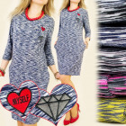 BI206 LOOSE DRESS, TUNIC, Patches LOVE MYSELF