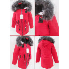 E29 Winter Womens Jacket, Drawstring, Faux Fur, Re