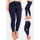 R52 Classic Women Pants, High Waist, Jeans, Navy