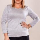 4667 Classic Basic Blouse, Plus Size, Gray