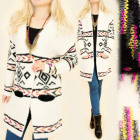 B16561 Long Sweater, Cardigan, Scandinavian Style
