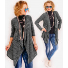 R11 Long & Loose Cardigan, Jacket, Trendy Melange