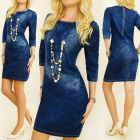 BI513 Women Jeans Dress, Tuba, Stitching