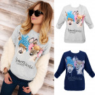 K496 Lovely Cotton Sweatshirt, Blouse, Young&Wild