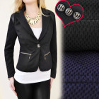 BI321 FEMALE JACKET, NAVY & BLACK, OFFICE STYL