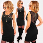 A1019 Little Black Dress, Latex and Mesh