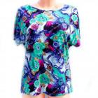 Cotton Womens Shirt, M-3XL, Flowers, 5235