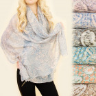 C17322 Wide and long, Shawl, Scarf, Lace Flowers