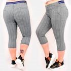 C17614 Pantalons pour femmes, grande taille, longu