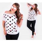 Women Shirt, Top, Polka Dots & Miky, 5488