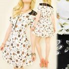 C17119 könnyű ruhát, Folk Pattern, Csipke