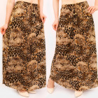 C17696 Women Maxi Skirt, Animal Print