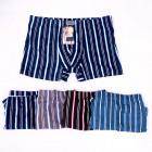 Cotton Boxer Shorts Men 2XL-4XL, Striped Pattern 4