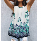 Women Blouse, Summer Top, Flowers L-4XL, 6621