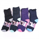 Damen Socken, druckfrei, Baumwolle 35-42, 537