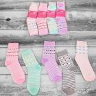 4310 Cotton Women Socks, Hearts Pattern