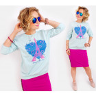 Sweat-shirt en coton pour femmes A828, imprimé: Lo