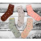 SOF04 Cotton Womens Socks, Elephants, 38 - 41