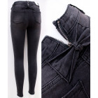 B16803 Women Jeans, Pants, Slider and Bows, Black
