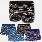 4529 Mens Bamboo Boxer Shorts, Panties L-3XL, Guns