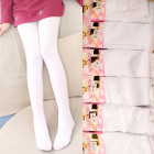 4804 White Kids Tights, Smooth, 0-12 Years