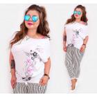 B18256 Top, coton , grande taille, blouse papillon