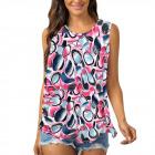 Women Blouse, Summer Top, Flowers L-4XL, 6614