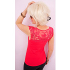 D26119 Romantic Blouse with shoulder pads. Lace