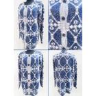 K46 Long Cardigan, Women's Sweater, Baroque Pa