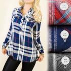 BI523 Asymmetrical Shirt, Tunic, Lattice, Standing