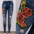 B16839 Beautiful Jeans Pants with Sequin Ornament