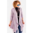 R71 Long Cardigan, Jacket, Soft & Cozy Lilac