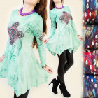 4029 TUNIC DRESS, PRINTED WITH AMULET, JETS