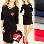 BI209 sweatshirt DRESS, TUNIC, sequins HEART