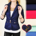 BI313 FASHION JACKET, GOLD BUTTONS, DOT INSERTS