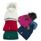 Warm Womens Cap, Hat, Pompon and Fleece, 5101