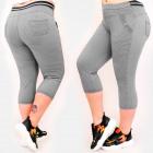 C17617 Pantalon confortable, taille plus, longueur