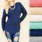 C11370 Trendy, Hairy Sweater, Gold Thread
