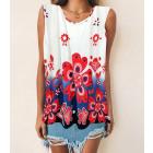 Women Blouse, Summer Top, Flowers L-4XL, 6617