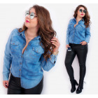 BI704 Women Shirt, Cotton Jeans, Street Look