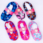 Velour Ballerina Slippers 35-42, Hearts, 4889