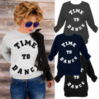 N072 Lovely Cotton Women Sweatshirt, Time To Dance