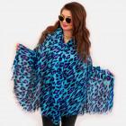 O11 Large Shawl, Scarf, Animal Pattern, Leopard