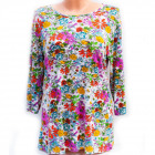 Loose Tunic For Women, Flowers Pattern, M - 3XL, 5