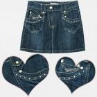 A19154 Denim Skirt For Girls, Jeans, 4-12
