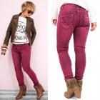 B16647 Loose Women Jeans Hosen, Burgund